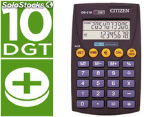 Calculadora citizen bolsillo de-210 euro 10 digitos doble pantalla negra en