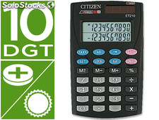 Calculadora citizen bolsillo et-210 10 digitos doble pantalla con tecla de
