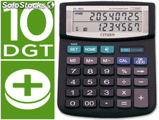 Calculadora citizen sobremesa dl-860 euro 10 digitos doble pantalla negra