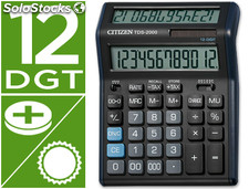 Calculadora citizen sobremesa tds-2000 12 digitos doble pantalla