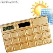 Calculatrice Solaire Or
