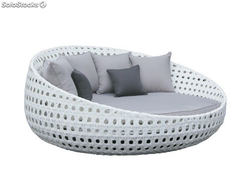 cama chill out rattan blanco venus