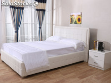 "Cama doble ""Alex"" - 140 x 190 cm - Blanco"