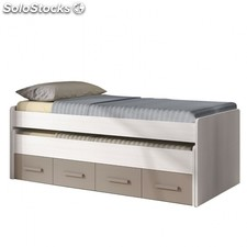 Cama doble juvenil Ares - Color - Blanco-line