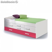 Cama doble juvenil iPink - Color - Blanco - Fucsia