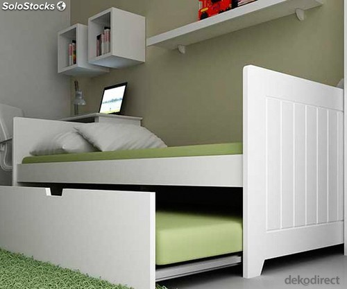 Cama nido madera color blanco en kit barata for Cama nido doble barata