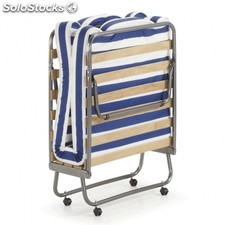 Cama plegable Jamaica - Color - Azul - Blanco