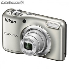 Camara digital nikon coolpix A10 plata - 16.1MPX - zoom optico 5X - tft