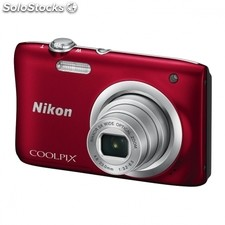 Camara digital nikon coolpix A100 roja - 20.1MPX - zoom optico 5X - tft