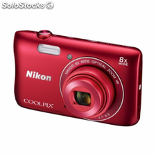 Camara digital nikon coolpix s3700 roja - 20.1mpx - zoom optico 8x -