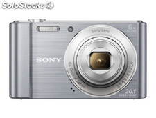 Camara digital sony dsc-w810 plata 20,1 mpx zoom optico 6x graba video hd 720p