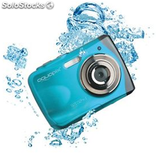 Cámara EasyPix Aquapix W1024 16MP Azul, sumergible