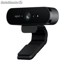 Camara logitech brio resolucion 4K 90º-vision zoom digital 5X enfoque