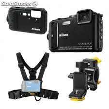 Cámara Nikon CoolPix AW130 Negra Outdoor Kit