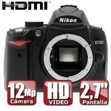 Camara nikon d5000 body (sd 2gb de regalo)