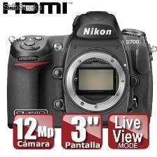 Cámara nikon d700 body (sd 2gb de regalo)