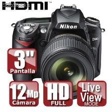 Camara nikon d90 dx 18-105mm (sd 2gb de regalo)