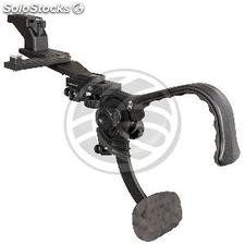 Camera stand shoulder stabilizer with double removable shoe and tripod stand