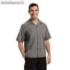 Camisa caballero colour by chef works cool vent gris l