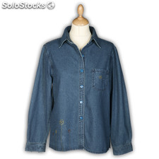 Camisa Jeans Mulher Ref. 451