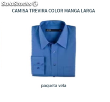Camisa Trevira Lisa - Color AZUL - Manga Larga
