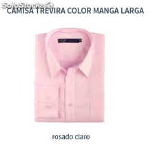 Camisa Trevira Lisa - Color rosado - Manga Larga