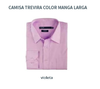 Camisa Trevira Lisa - Color violeta - Manga Larga
