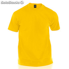 Camiseta adulto color amarillo premium