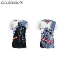 Camiseta blanco Star Wars Darth Vader talla XL