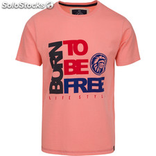 Camiseta born to be free - pink