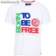 Camiseta born to be free - white - the indian face - 8433856054279 - 01-112-01-m