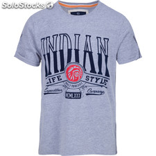 Camiseta built to resist - light grey melange - the indian face - 8433856054163