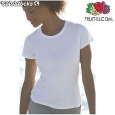 Camiseta Chica Valueweight Fruit Of The Loom m/c blanco