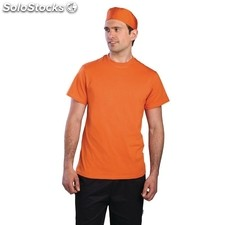 Camiseta colour by chef works naranja l