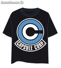 Camiseta Dragon Ball Capsule Corp Logo S