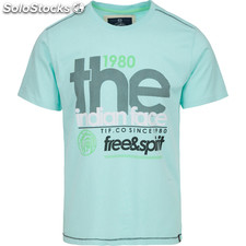 Camiseta free and spirit 1980 - soft blue - the indian face - 8433856056983 -