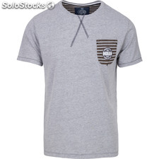 Camiseta freestyle pocket - light grey melange - the indian face - 8433856054484