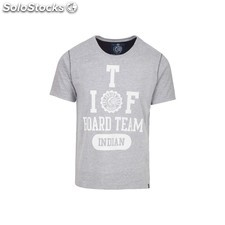 Camiseta indian board team - light grey melange