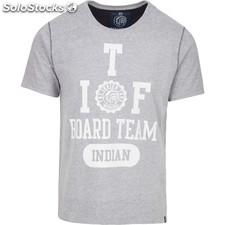 Camiseta indian board team - light grey melange - the indian face -
