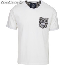 Camiseta indian flower - white