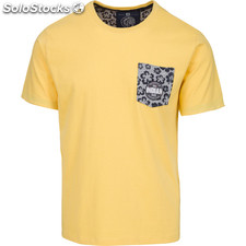 Camiseta indian flower - yellow