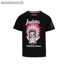 Camiseta indian rules forever - black