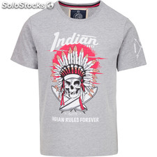 Camiseta indian rules forever - light grey melange - the indian face -