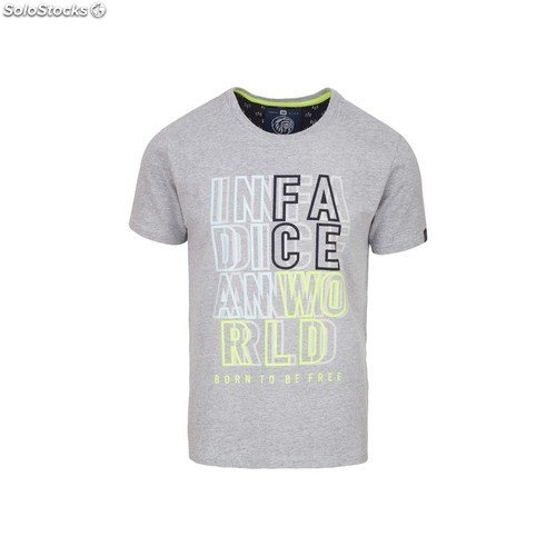 Camiseta indian world - light grey melange