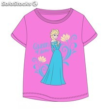 Camiseta infantil queen of snow frozen talla 4 rosa