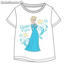 Camiseta infantil queen of snow frozen talla 5 blanco