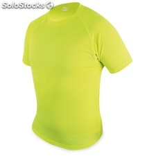 Camiseta light d&f ni¥o amarilla fluorescente