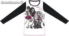 Camiseta manga larga blanca monster high - talla 8
