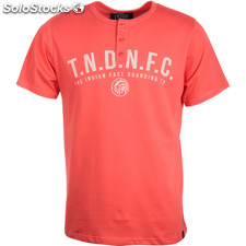 Camiseta mc botones boarding co red - red