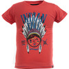 Camiseta mc junior indian brave red - red - the indian face - 8433856048070 -